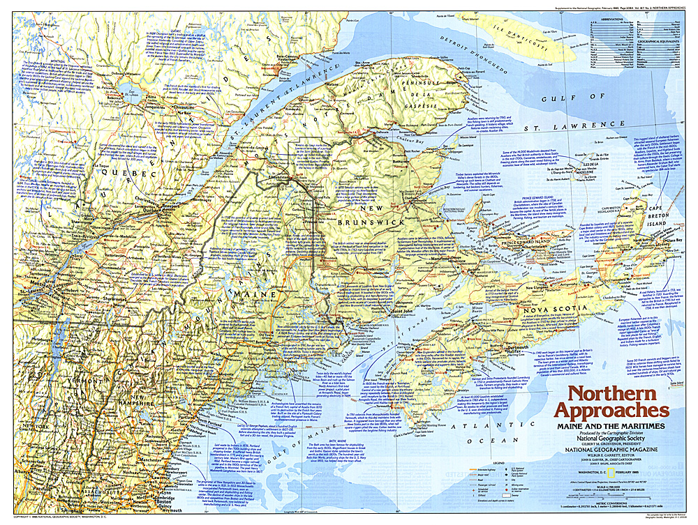 Northern Approaches Maine To The Maritimes Map - Map maine