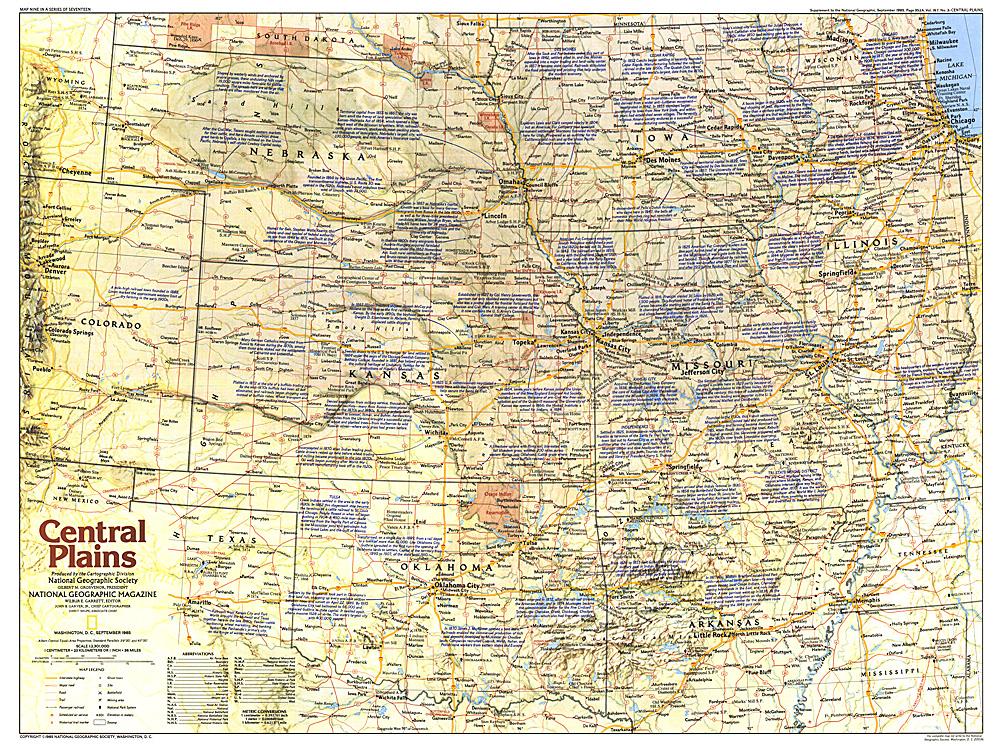 Central Plains Map Side - Central plains on us map