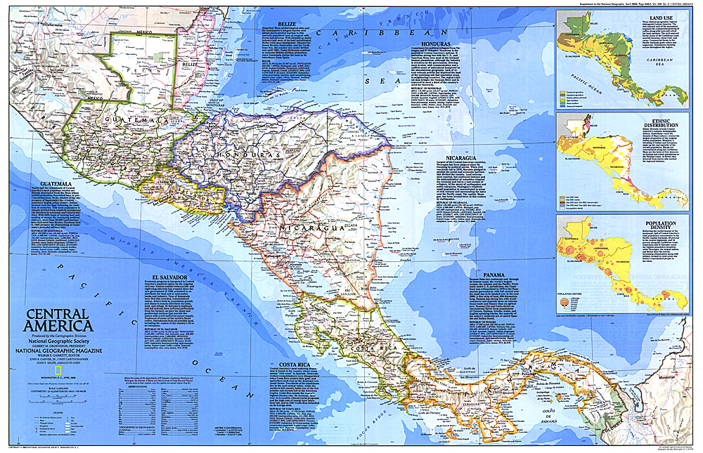 Central America Map - Maps of central america