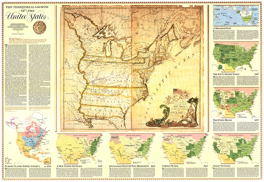 Territorial Growth Of The United States Map - States map of the united states