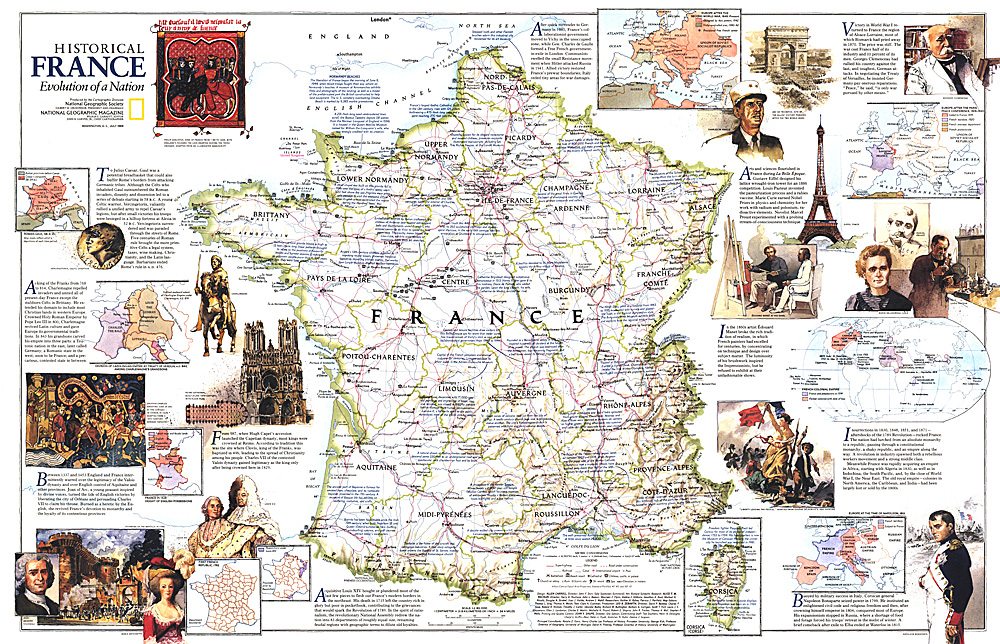 Historical France Map - France map