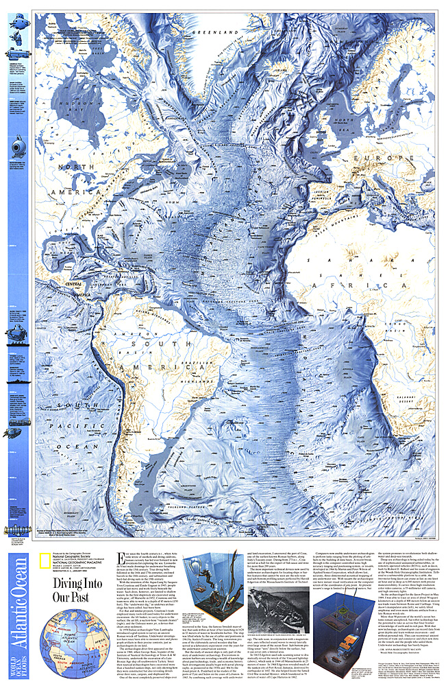World Ocean Floors Atlantic Ocean Map