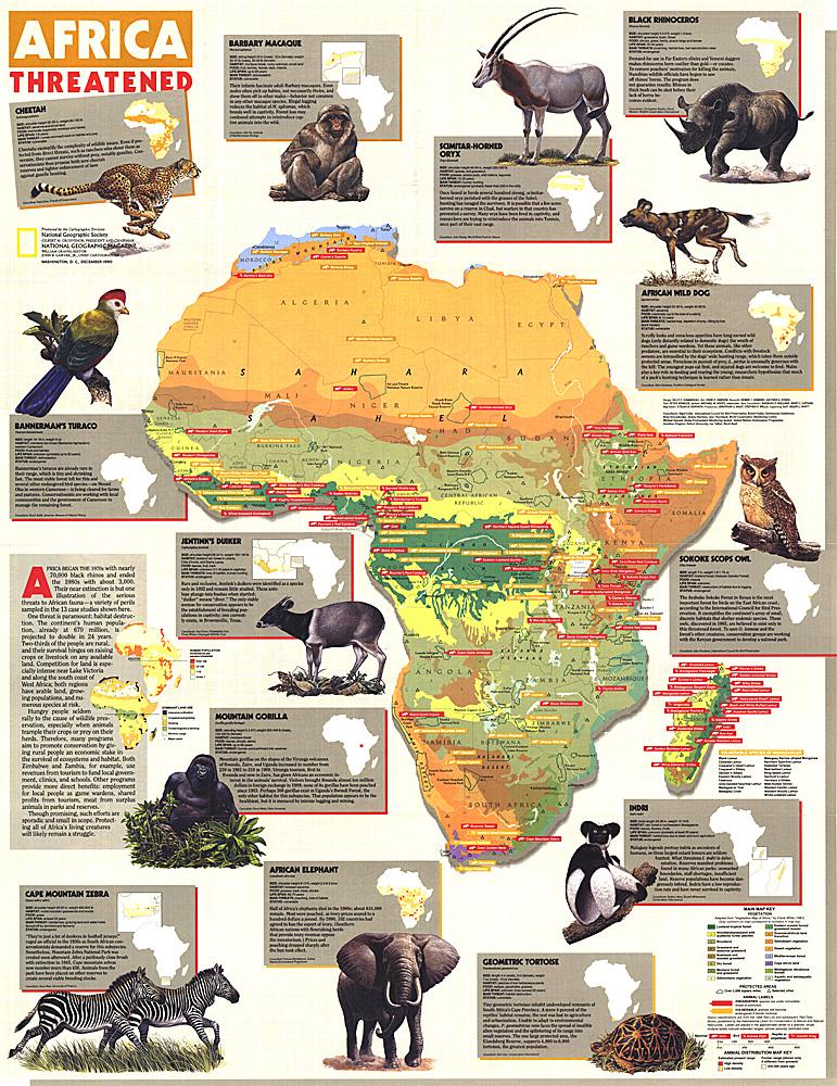 Africa Threatened Map