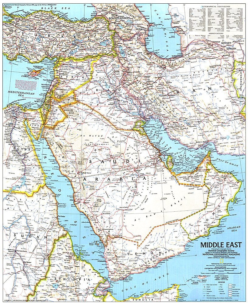 Middle East Map - Middle east map