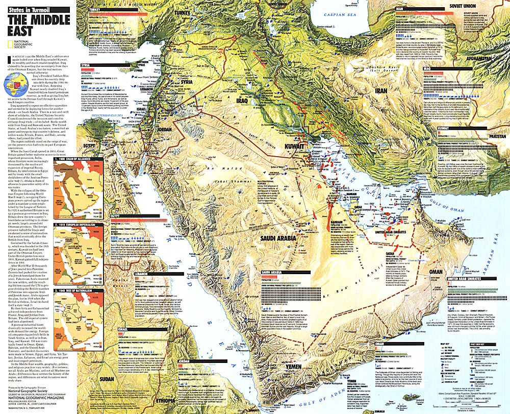 Middle East, States in Turmoil Map on large map of middle east, geography map of middle east, state map of middle east, fox map of middle east, the geographical map of middle east, maps of ancient mid east, atlas of middle east, google map of middle east, global map of middle east, harpercollins map of middle east,