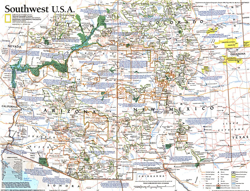 Southwest USA Map - Southwest us map