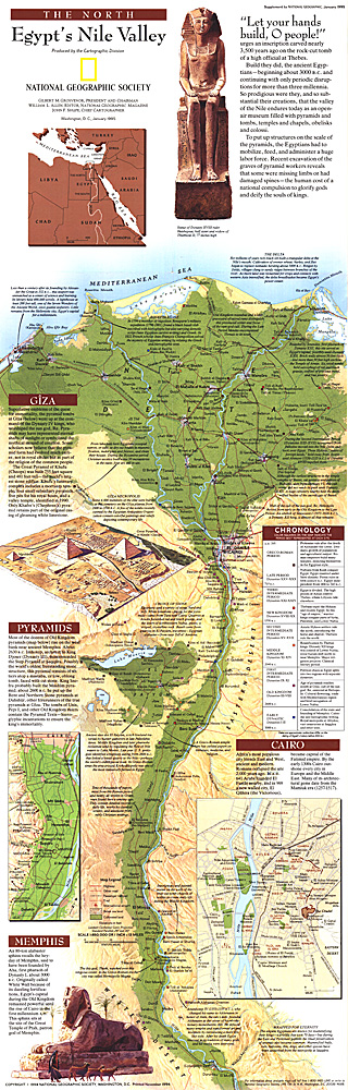 Egypts Nile Valley North Map - Map of egypt national geographic