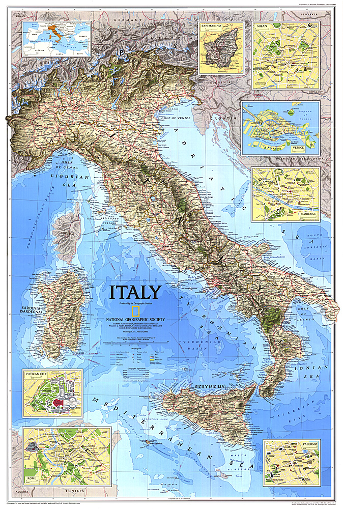 Italy Map - Physical map of italy