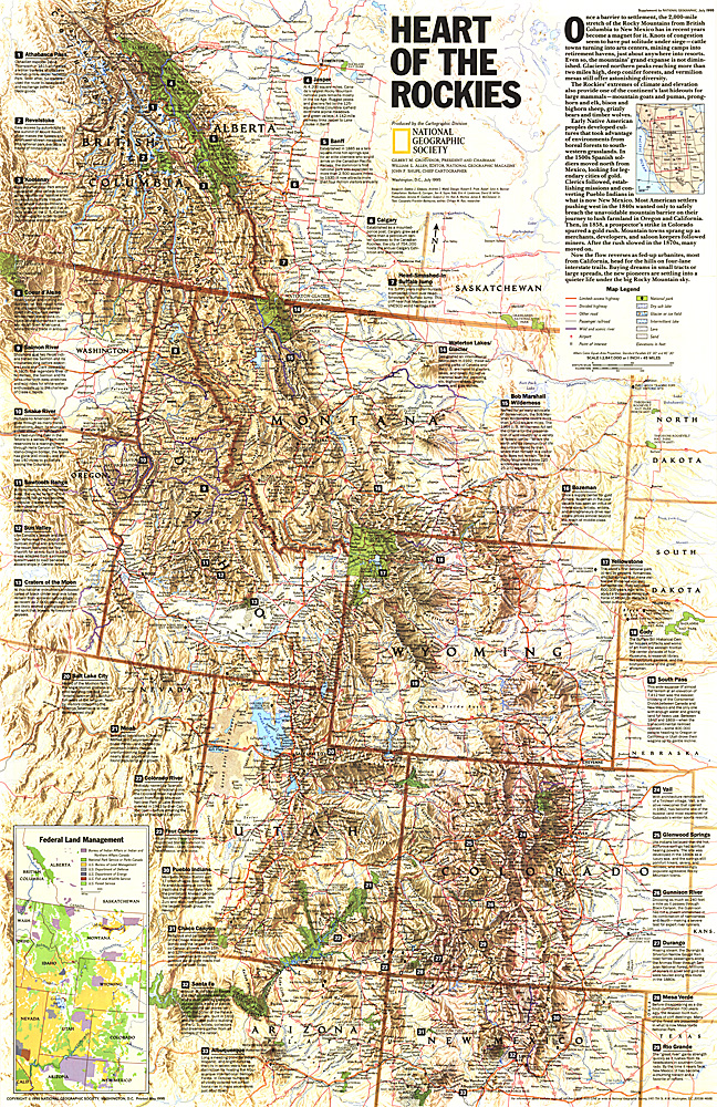 Heart of the Rockies Map