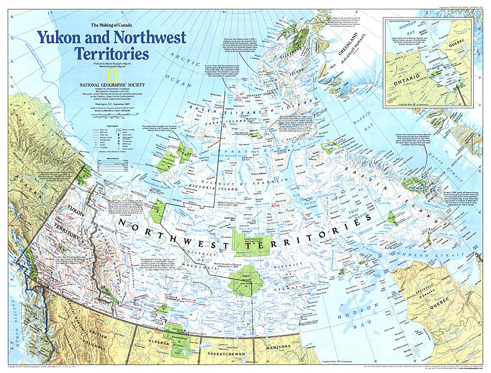 Making of Canada Yukon and Northwest Territories Map