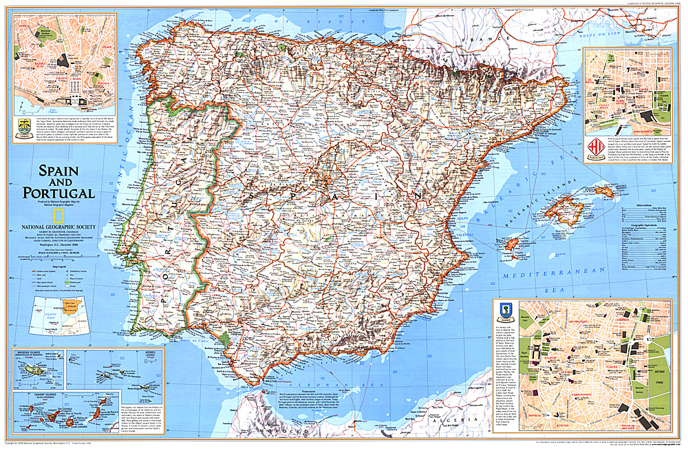 Spain And Portugal - Map of portugal spain