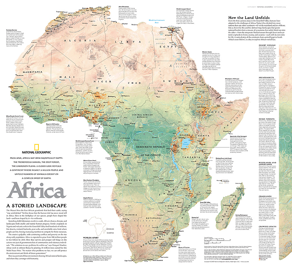 Africa A Storied Landscape Map - áfrica map