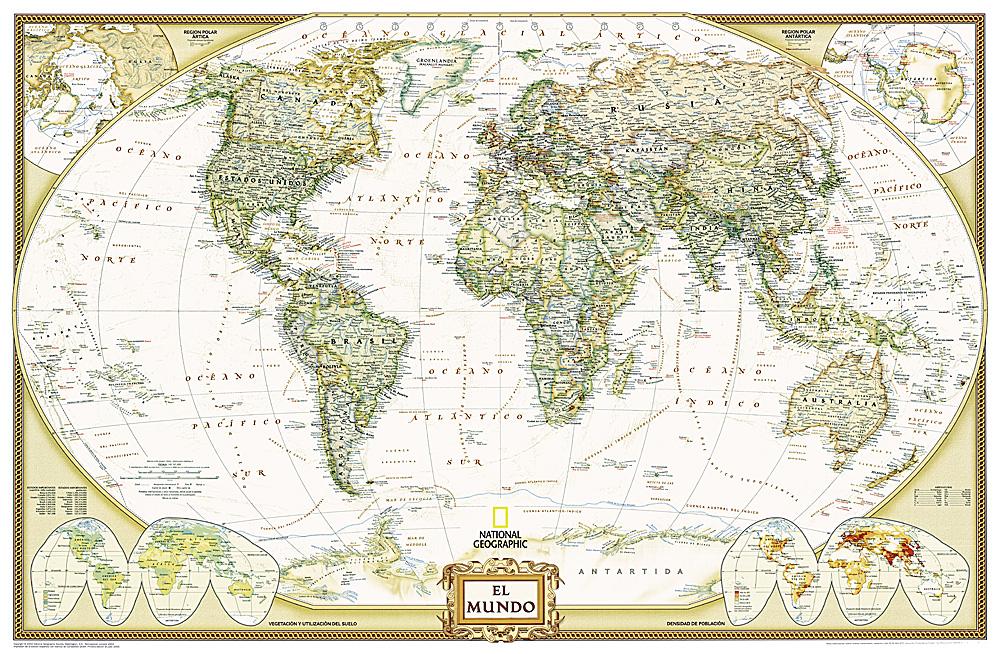 World Executive Spanish Map - World map in spanish