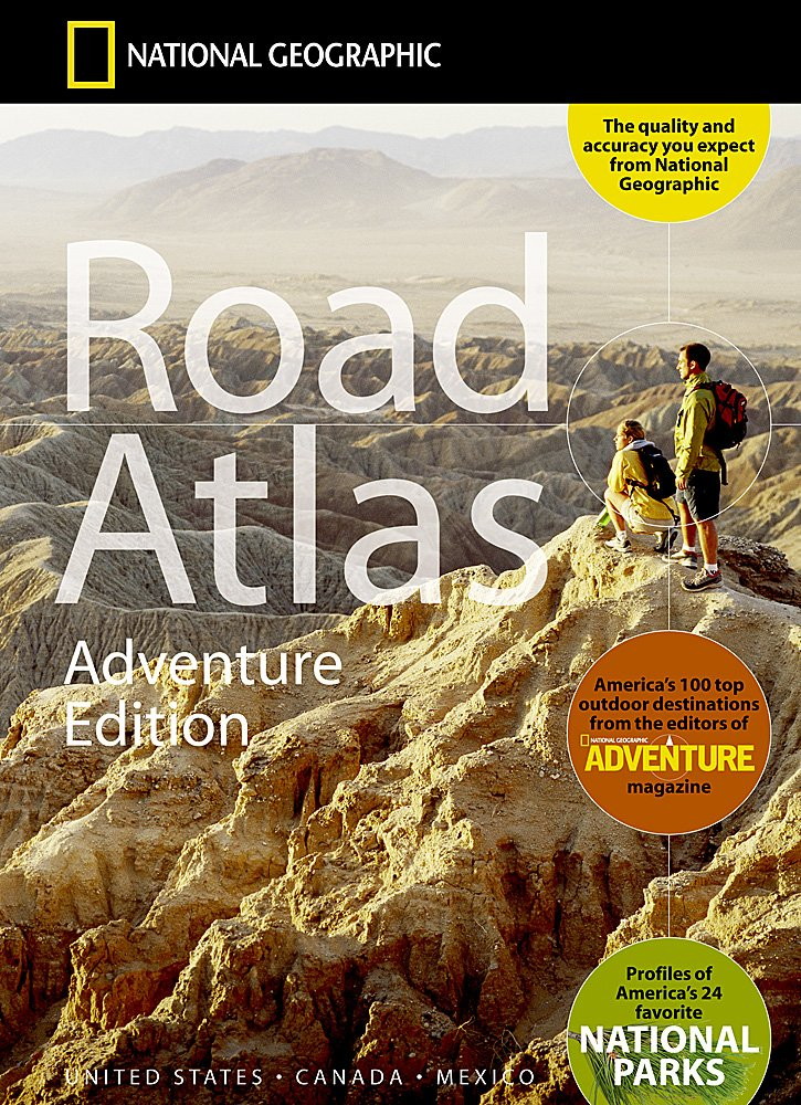 Road Atlas Adventure Edition United States Canada Mexico - Usa road atlas