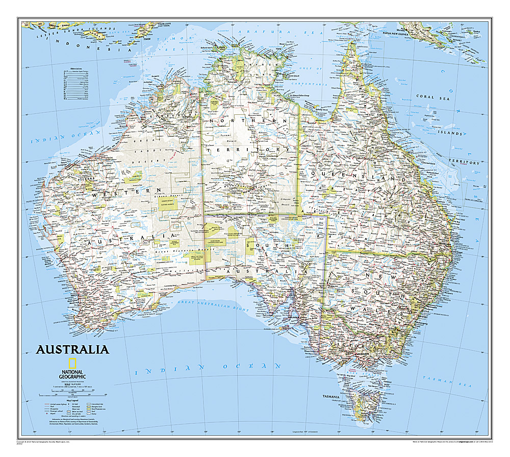 Australia Classic Laminated - Where can i buy a wall map