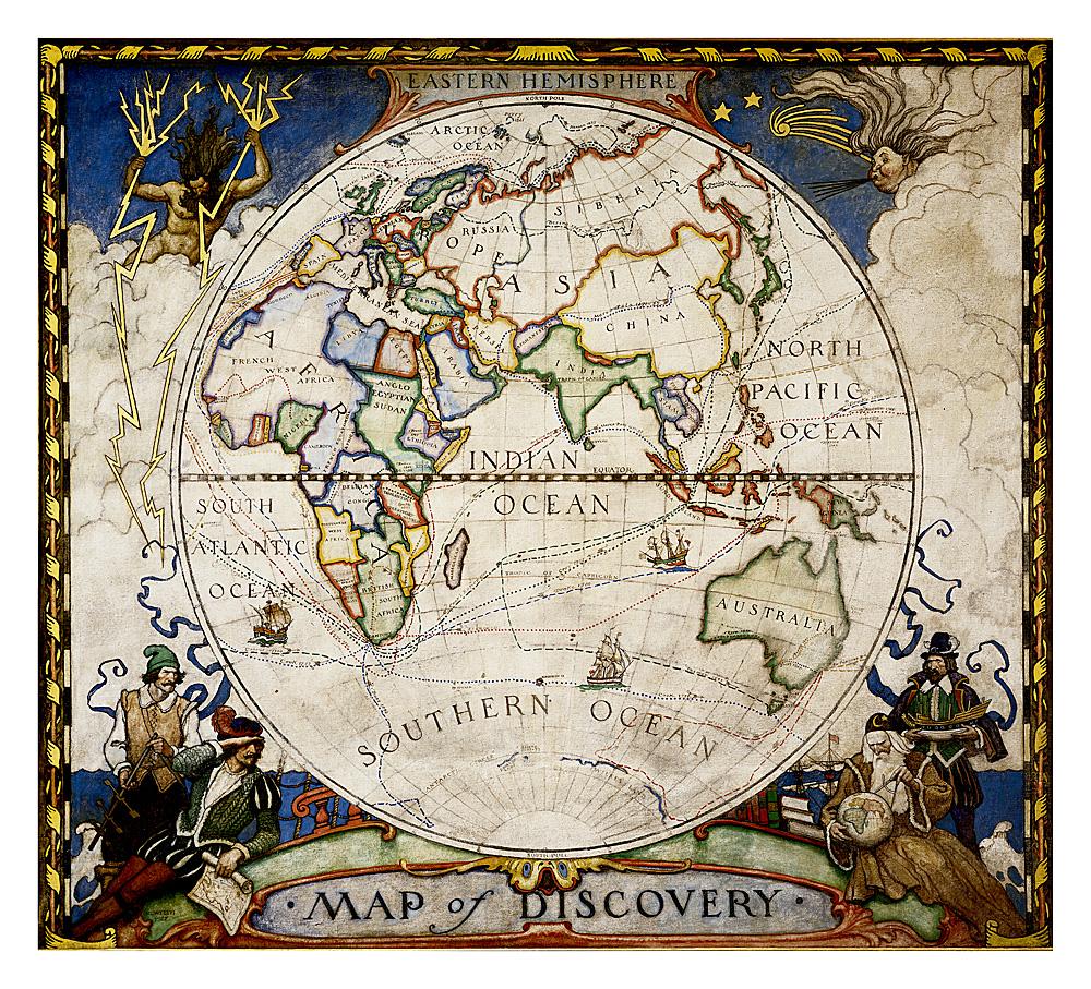 Map of Discovery, Eastern Hemisphere