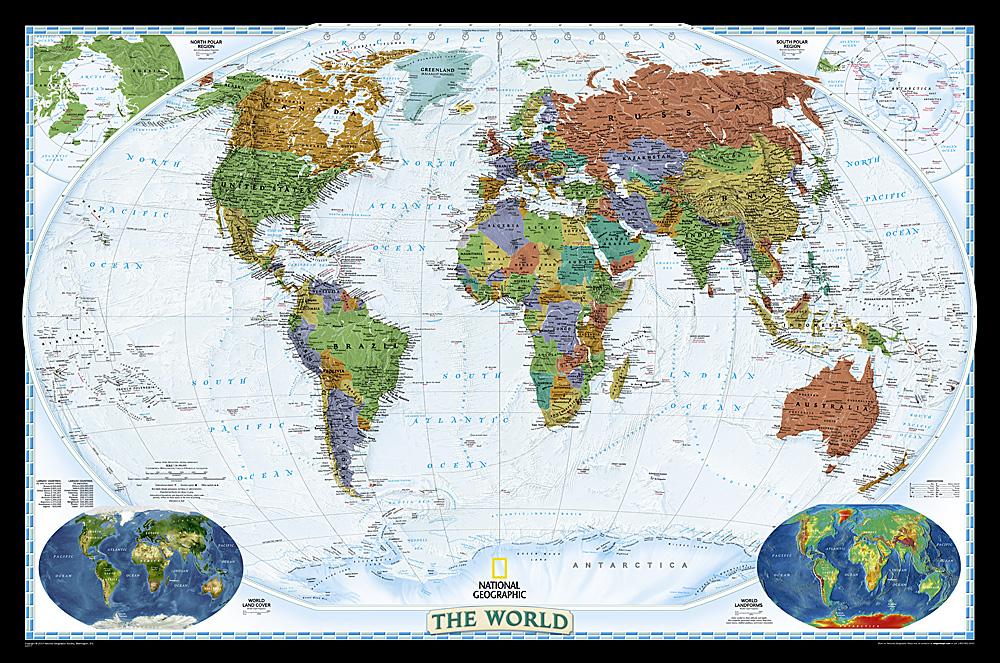 World Reference Maps Wall