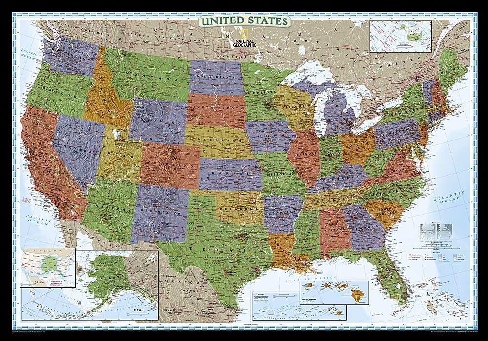 United States Decorator - The united states maps