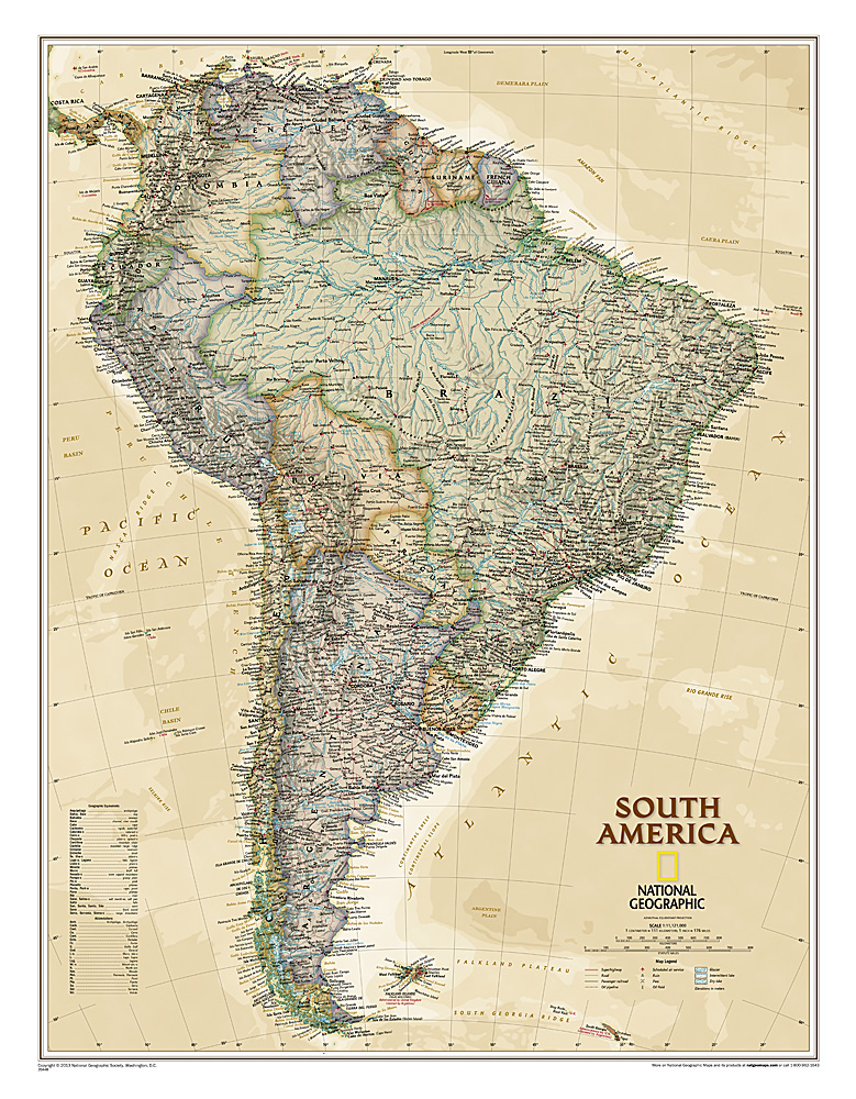 South America Reference Maps Wall Maps