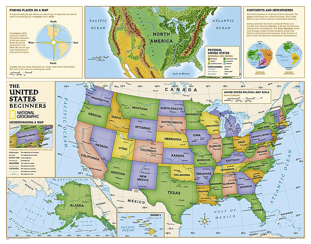 Kids Beginners USA Education: Grades K-3 [Laminated]