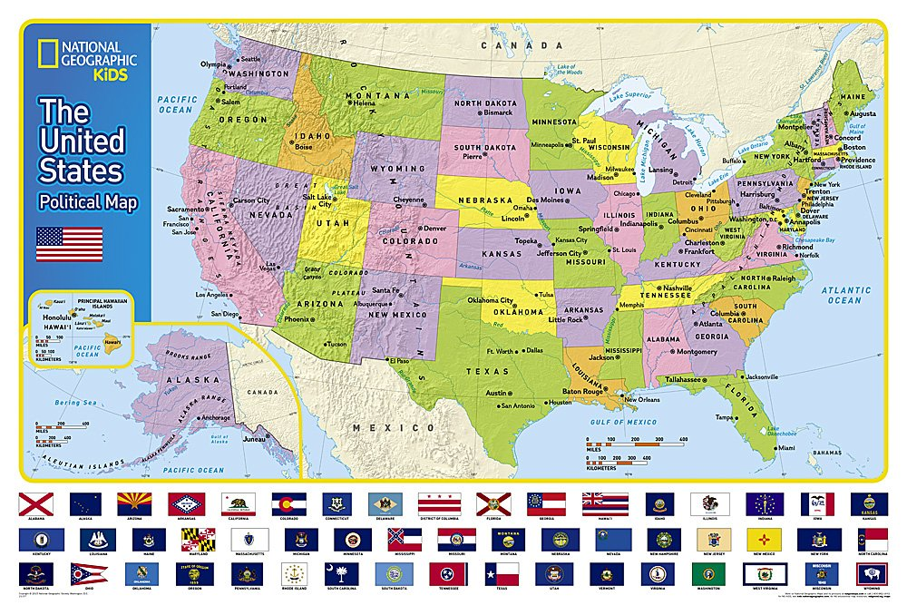 United States Kids Wall Maps: Wall Map Us Roads At Usa Maps