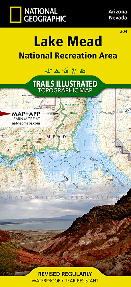 Lake Mead National Recreation Area National Parks Trails Illustrated Maps