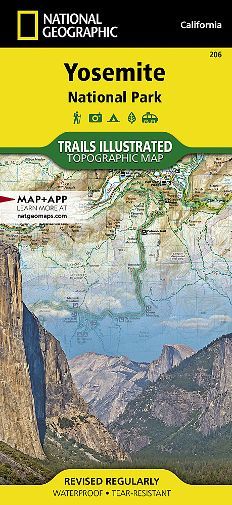 Trails illustrated maps trail maps 206 yosemite national park fandeluxe Images