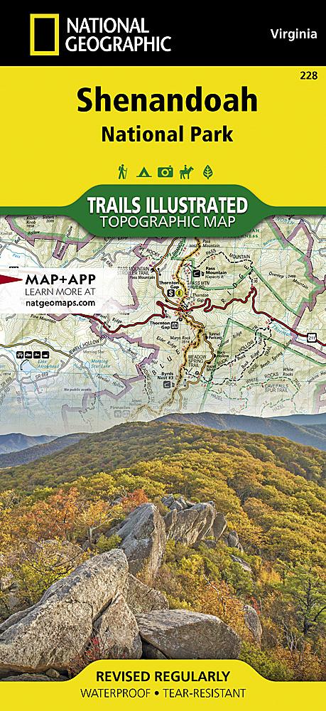 Shenandoah National Park - Map western us national parks