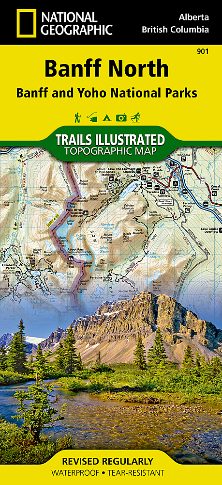 Banff North Banff And Yoho National Parks - Map of banff and us