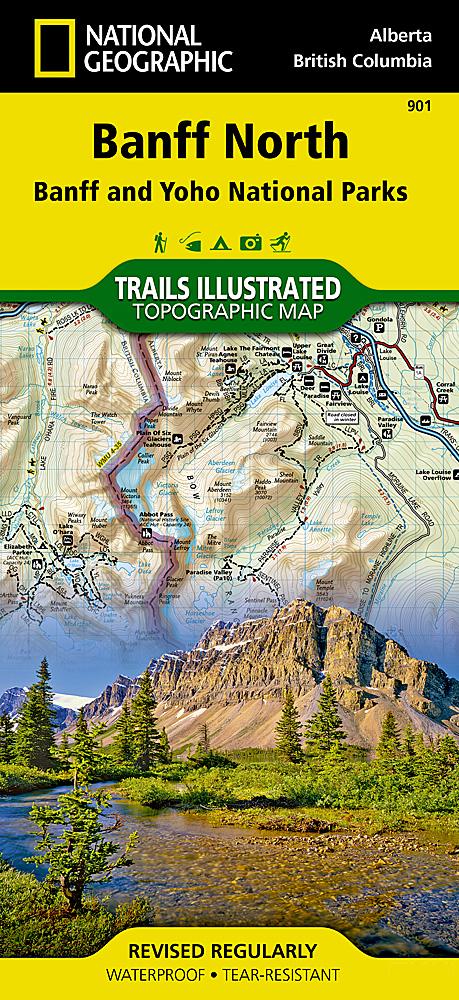 Banff North Banff And Yoho National Parks - Us national parks map