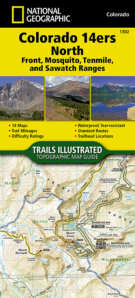 Colorado Ers North Sawatch Mosquito And Front Ranges - 14ers map us