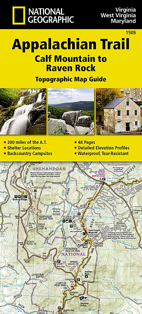 Appalachian Trail Calf Mountain To Raven Rock Virginia West - Calf map