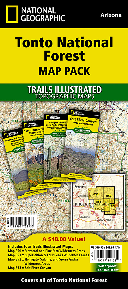 Tonto National Forest Map Pack Bundle