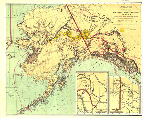 Gold and Coal Fields of Alaska Map