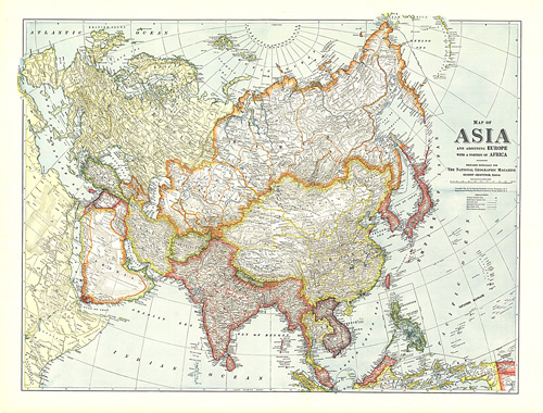 Africa Europe And Asia Map.Map Of Asia With Europe And A Portion Of Africa