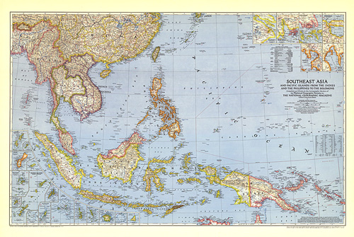Southeast Asia and the Pacific Islands Map