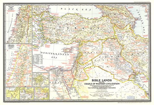 Bible Lands, and the Cradle of Western Civilization Map