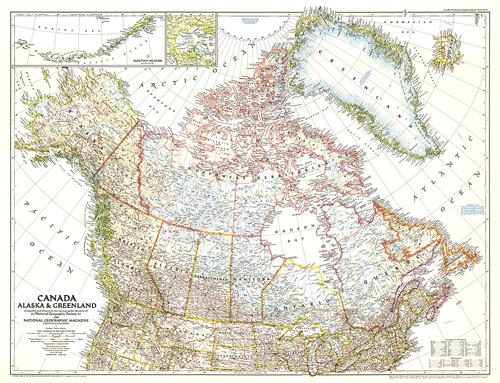 Canada Alaska And Greenland Map