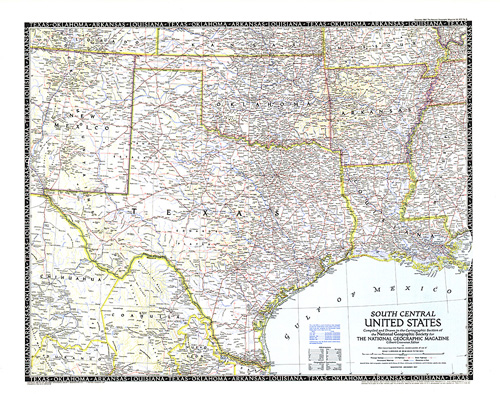 South Central United States Map - Road-map-of-the-us