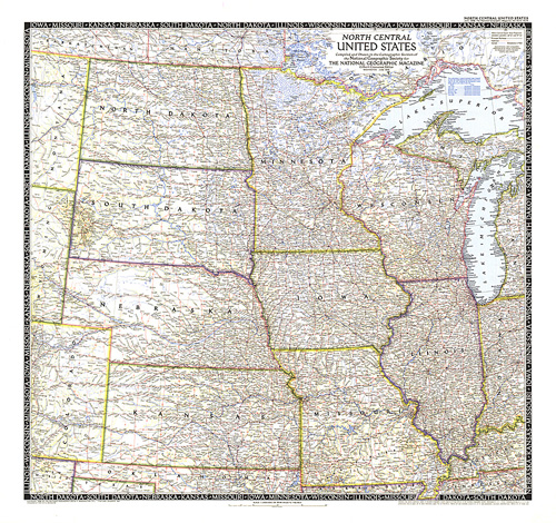 North Central Us Map.North Central United States Map