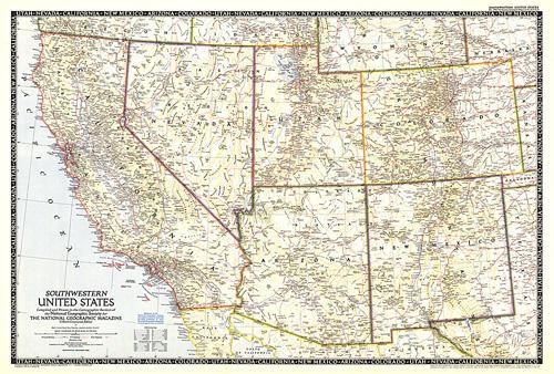 Southwestern United States Map