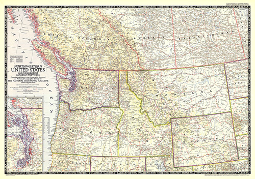 Northwestern United States and Canadian Provinces Map