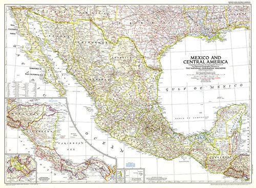 Mexico And Central America Map - Map of mexico and central america