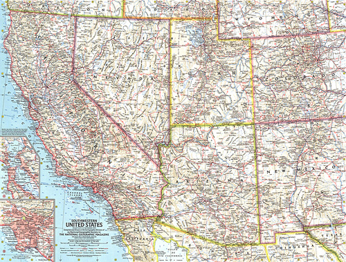Map Of The United States Picture.Southwestern United States Map