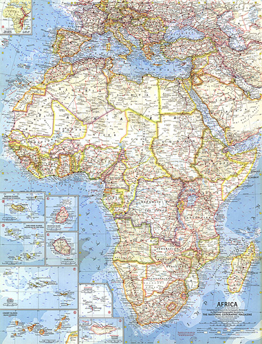 Map Of Africa 1960.Africa Map