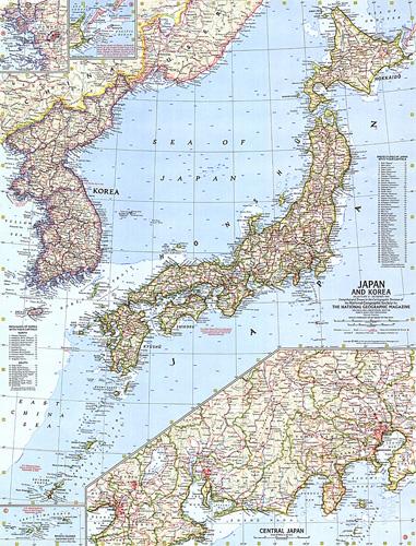 Japan And Korea Map