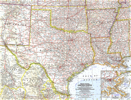 Map Of The United States Map Of The United States.South Central United States Map