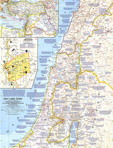 Holy Land Map Holy Land Today Map