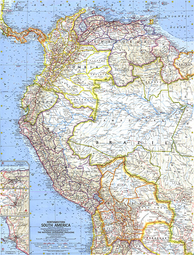 Northwestern South America Map