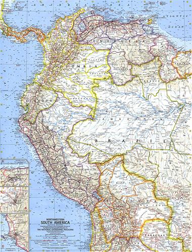 Northwestern South America Map